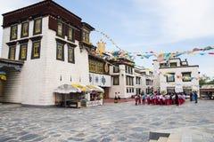 Chino de Asia, Pekín, China Minzu Yuan, paisaje arquitectónico, el templo de Jokhang Fotografía de archivo