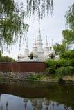 Chino de Asia, Pekín, China Minzu Yuan, paisaje arquitectónico, la pagoda blanca Imagen de archivo