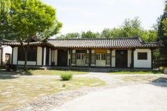 Chino de Asia, Pekín, China Minzu Yuan, paisaje arquitectónico, las casas del coreano Imagen de archivo