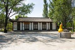 Chino de Asia, Pekín, China Minzu Yuan, paisaje arquitectónico, las casas del coreano Fotografía de archivo
