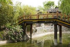 Chino de Asia, Pekín, China Minzu Yuan, puente, Rosa Imagen de archivo libre de regalías