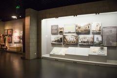 Chino de Asia, Pekín, museo, escaparate interior Imagenes de archivo