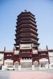 Chino de Asia, Pekín, torre de ŒYongding del ¼ de Expoï del jardín Imagen de archivo