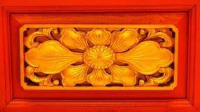 Chino de la escultura de la flor Foto de archivo