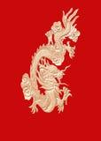 Chino de oro del dragón Fotos de archivo