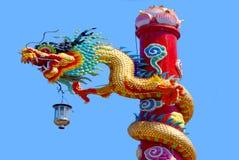 Chino del dragón en el país de Tailandia Foto de archivo libre de regalías
