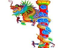 Chino del dragón en el país de Tailandia Fotos de archivo libres de regalías