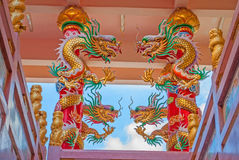 Chino del dragón en Tailandia Foto de archivo libre de regalías