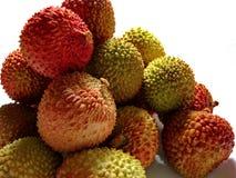 Chino del lichi Las frutas son ovoides en forma con una piel granujienta de una tonalidad roja brillante no m?s que 3 5 cm en di? fotografía de archivo libre de regalías