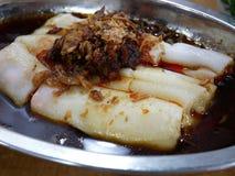 Chino Dim Sum Chee Cheong Fun de Penang Imagen de archivo