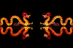 Chino Dragon Lantern imagen de archivo