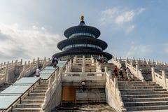 Chino el Templo del Cielo Pasillo del rezo imagen de archivo