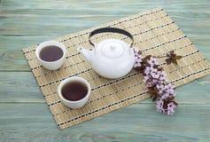 Chino fijado con té Imagen de archivo