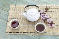 Chino fijado con té Foto de archivo libre de regalías