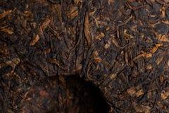 Chino maduro presionado del té de Puer Foto de archivo
