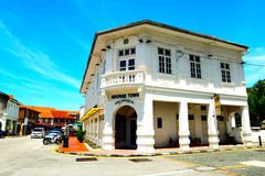 Chino Portuguese building, George town, Penang Malaysia. View of Chino Portuguese building in George town, Penang Malaysia.George Town is known as the UNESCO Royalty Free Stock Photography