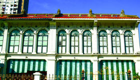 Chino Portuguese building, George town, Penang Malaysia. View of Chino Portuguese building in George town, Penang Malaysia.George Town is known as the UNESCO Stock Images