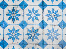 Chino Portuguese old tiles. Royalty Free Stock Photo