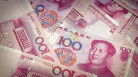 Chino Yuan Banknotes Rotating almacen de metraje de vídeo