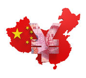 Chino Yuan Symbol Imagen de archivo