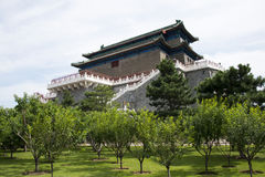 Chinois asiatique, Pékin, architecture antique, Zhengyang Jianlou Image stock