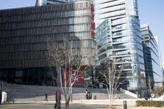 Chinois asiatique, Pékin, architecture moderne, le théâtre oriental Photographie stock libre de droits
