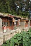Chinois asiatique, Pékin, bâtiment historique, le palais d'été, rue de Suzhou Photo libre de droits