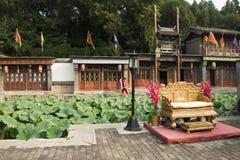 Chinois asiatique, Pékin, bâtiment historique, le palais d'été, rue de Suzhou Image libre de droits