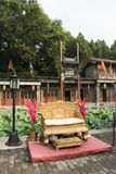 Chinois asiatique, Pékin, bâtiment historique, le palais d'été, rue de Suzhou Images stock