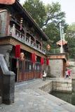 Chinois asiatique, Pékin, bâtiment historique, le palais d'été, rue de Suzhou Photographie stock