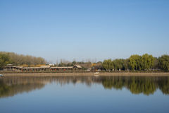 Chinois asiatique, Pékin, grand Canale Forest Park, paysage de jardin Photos stock