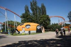 Chinois asiatique, Pékin, parc de Chaoyang, le parc d'attractions courageux, Photo stock