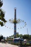 Chinois asiatique, Pékin, parc de Chaoyang, le parc d'attractions courageux, Images stock