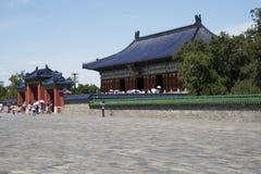 Chinois asiatique, Pékin, parc de Tiantan, bâtiments historiques Photographie stock libre de droits