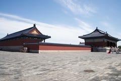 Chinois asiatique, Pékin, parc de Tiantan, bâtiments historiques Photo libre de droits
