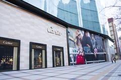 Chinois asiatique, Pékin, rue commerciale de Wangfujing Photographie stock