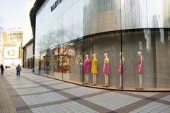 Chinois asiatique, Pékin, rue commerciale de Wangfujing Image stock