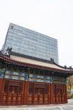 Chinois asiatique, Pékin, rue financière, architecture moderne, bâtiments, architecture classique Photos stock