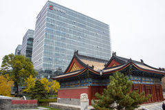 Chinois asiatique, Pékin, rue financière, architecture moderne, bâtiments, architecture classique Photographie stock libre de droits