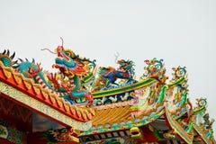 Chinois concret coloré Dragon Statue Photo libre de droits