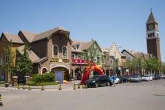 Chinois de l'Asie, Pékin, architecture européenne, dessus du beau ¼ Œ de townï de ressort Photographie stock