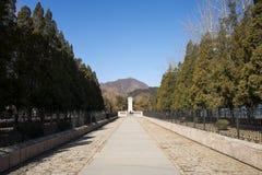 Chinois de l'Asie, Pékin, région scénique de Ming Dynasty Tombs, pavillons de Œgateway de ¼ de Dinglingï photo stock