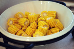 Chinois de nouille de casse-croûte de nourriture de maïs Photos stock
