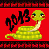 An chinois de serpent Photo libre de droits