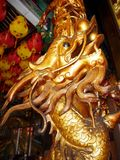 Chinois Dragon Carving Column Image libre de droits