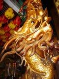 Chinois Dragon Carving Column Image libre de droits