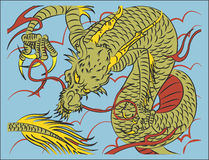 Chinois Dragon Traditional illustration stock