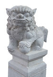Chinois en pierre Lion Stone With Clipping Path Photographie stock