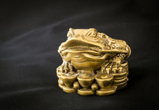Chinois Feng Shui Frog avec des pièces de monnaie, symbole pour Photos libres de droits
