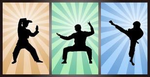 Chinois Kung Fu, maîtres de Wushu Photos stock